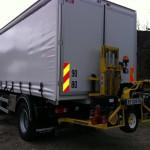Camion de livraison de granulés
